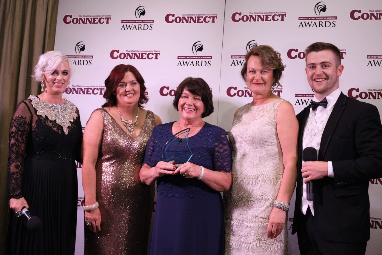 Breeda Hurley from Tralee, who owns ABC cleaning, won a Lifetime Achievement Award at the recent Connect Kerry Women in Business function.